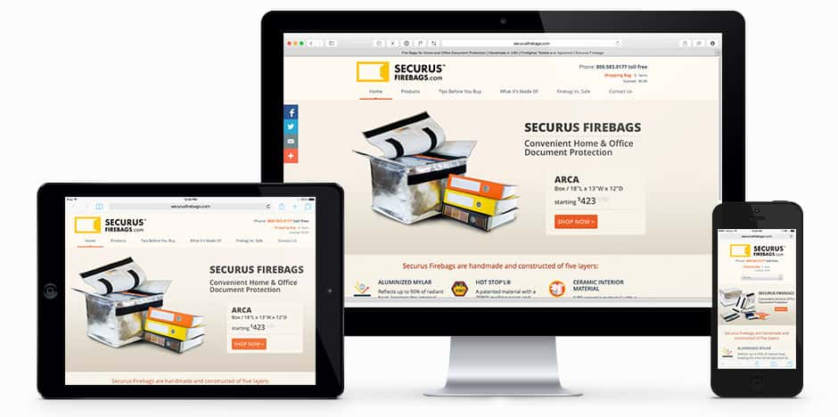 Securus FireBags Branding and Website Campaign